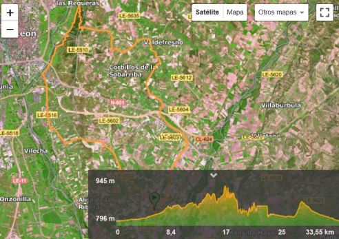 Ruta Bici desde Villaturiel